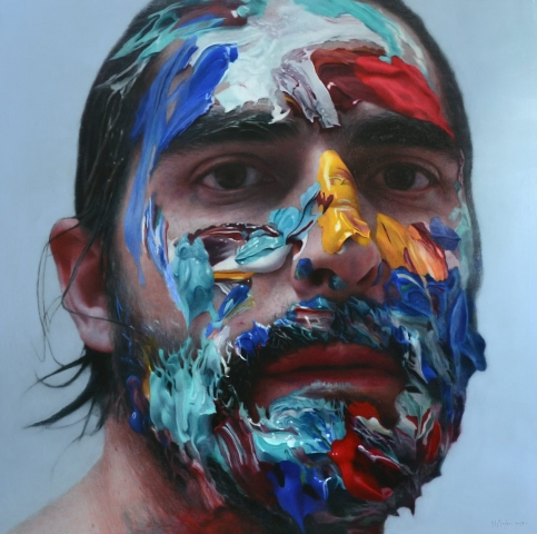 hyperrealism, hyperrealist, art, hyperrealistic, iperrealismo, oil on canvas, paintings, photorealism, portrait, eloy morales, paint,
