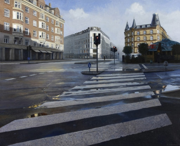 hyperrealism, hyperrealist, art, hyperrealistic, iperrealismo, oil on canvas, paintings, photorealism, cityscapes, danimarca, copenhagen, copenaghen, daniel goldenberg, cityscape paintings, landscapes, landscapes paintings,