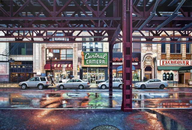 hyperrealism, hyperrealist, art, hyperrealistic, iperrealismo, oil on canvas, paintings, photorealism, ciryscapes, new york, new york cityscapes, cityscape paintings, nathan walsh