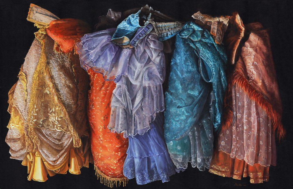 Costume Design Meets Fine Arts In Chris Klein S Paintings Hyperrealism Magazine