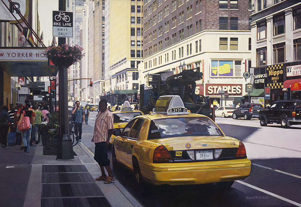hyperrealism, hyperrealist, art, hyperrealistic, iperrealismo, oil on canvas, paintings, photorealism, landscapes, cityscapes, photorealistic, cityscape paintings, landscape paintings, harold zabady,
