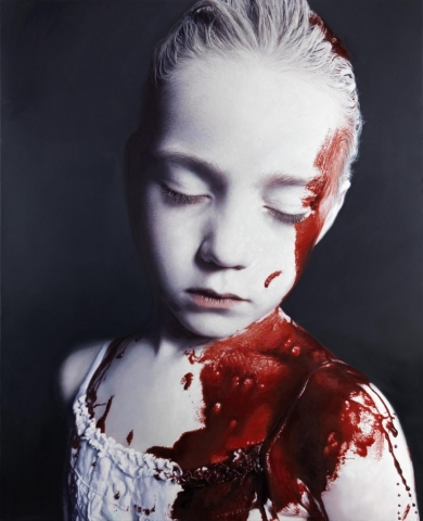 hyperrealism, hyperrealist, art, hyperrealistic, iperrealismo, oil on canvas, paintings, portrait, social art, gottfried helnwein,